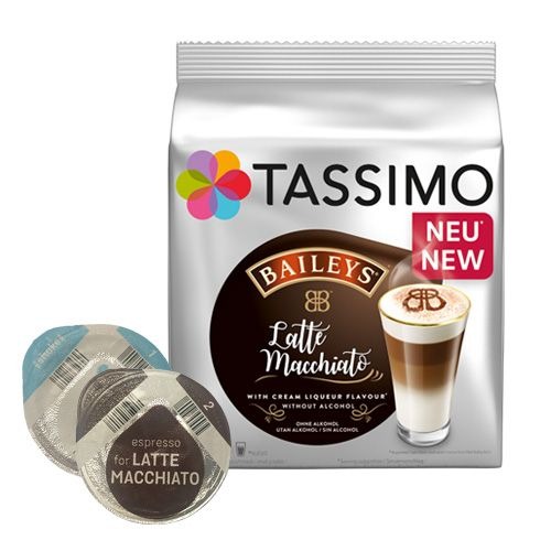 baileys latte macchiato 16 kapseln f r tassimo jetzt 4 29. Black Bedroom Furniture Sets. Home Design Ideas