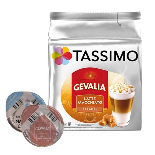 gevalia latte macchiato caramel 16 kapseln f r tassimo jetzt 4 49. Black Bedroom Furniture Sets. Home Design Ideas